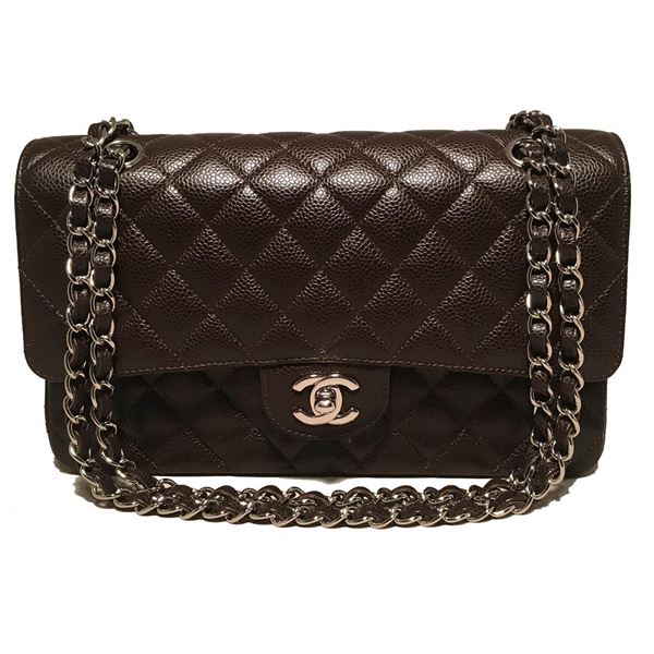 bdf29bbf7b30 ... 2.55 Double Flap Classic Shoulder Bag. chanel-brown-caviar-medium-10inch -255-double-flap-