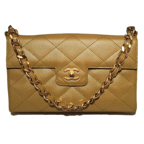 40f24424a864 ... Flap Shoulder Bag. chanel-caviar-gold-metallic-chartreuse-green-quilted- classic-