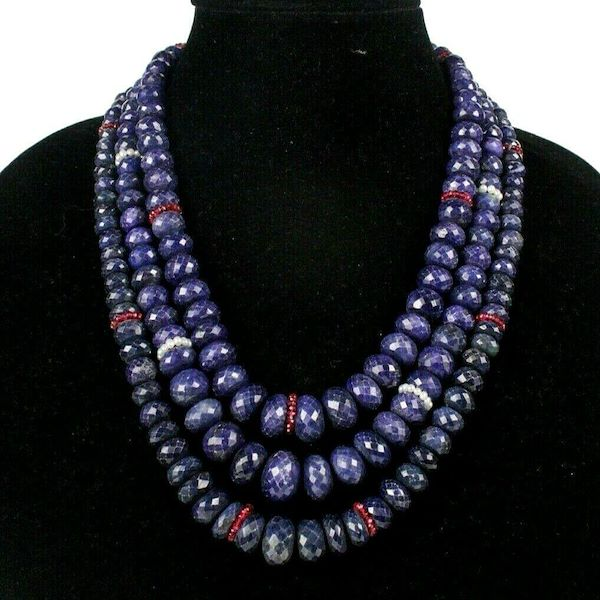 sapphire-necklace-with-ruby-pearls-18k-gold-blue-red-triple-strand-pre-owned-used