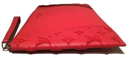 like-new-louis-vuitton-red-leather-and-velour-monogram-wristlet-clutch