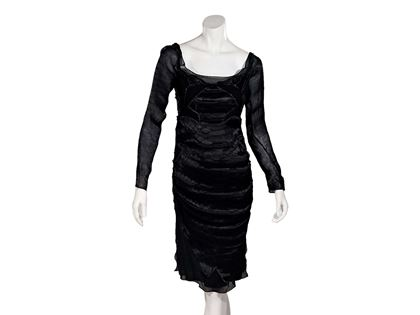 black-vintage-yves-saint-laurent-rive-gauche-dress-2
