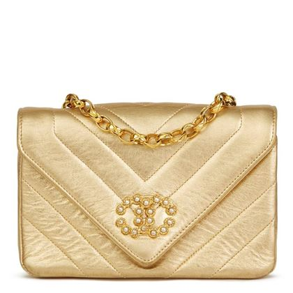 gold-chevron-quilted-metallic-lambskin-vintage-pearl-mini-flap-bag