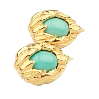 fendi-earrings-set-with-turquoise-colour-setting
