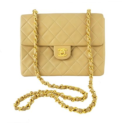 chanel-small-square-beige-flap-bag