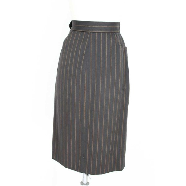 yves-saint-laurent-rive-gauce-suit-skirt-double-breasted-pinstripe-wool-vintage-brown
