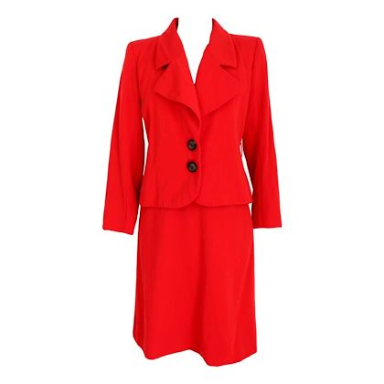 yves-saint-laurent-rive-gauce-skirt-suit-tailleur-wool-vintage-red
