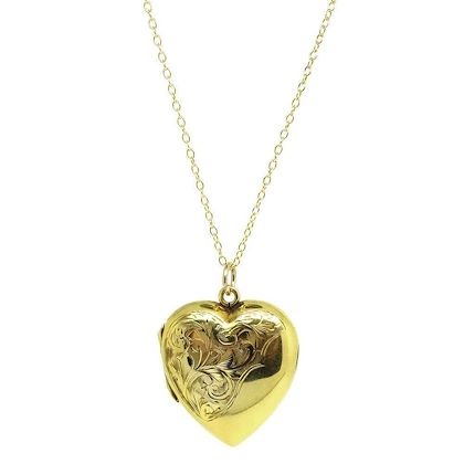 vintage-1930s-9ct-gold-heart-locket-necklace-4