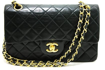 chanel-255-double-flap-9-chain-shoulder-bag-black-quilted-lamb-13