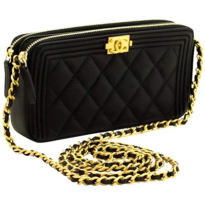 mint-chanel-boy-black-caviar-woc-wallet-on-chain-zip-shoulder-bag-2