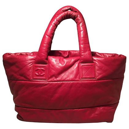 chanel-red-and-navy-puffy-leather-cocoon-tote-bag