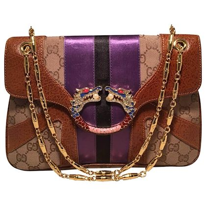 gucci-tan-monogram-tom-ford-jeweled-dragon-shoulder-bag