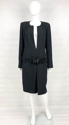chanel-runway-look-black-wool-belted-dress-coat-2009