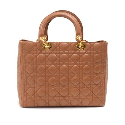 vintage-christian-dior-lady-dior-large-brown-quilted-cannage-leather-handbag-strap-2