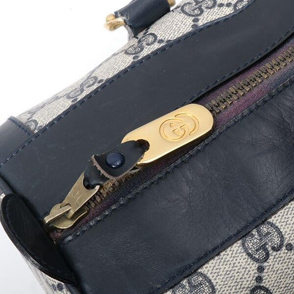 gucci-gg-pattern-web-detailed-boston-handbag-navy
