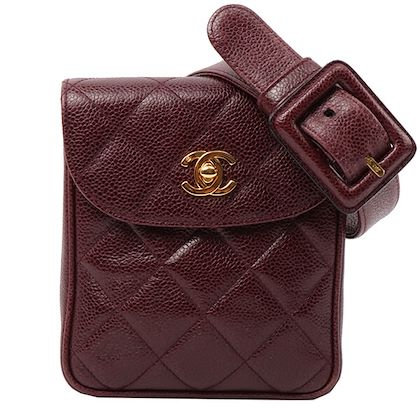 chanel-caviar-skin-cc-mark-turn-lock-plate-waist-pouch-wine-red