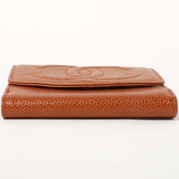chanel-caviar-skin-cc-mark-stitch-wallet-brown