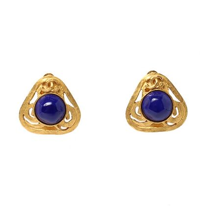 chanel-triangle-round-stone-mini-cc-mark-earrings-blue