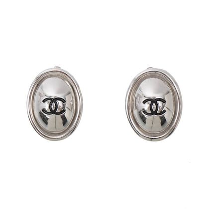 chanel-oval-cc-mark-earrings-silver