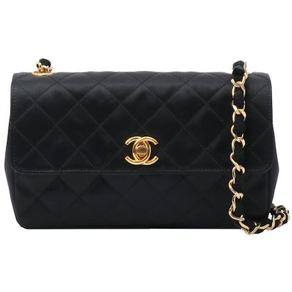 chanel-silk-satin-straight-flap-turn-lock-chain-bag-black