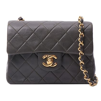 chanel-classic-flap-chain-bag-mini-dark-olive