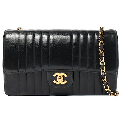 chanel-mademoiselle-stitch-classic-flap-chain-bag-25cm-black-2