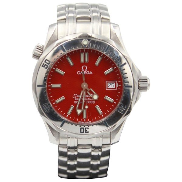 mens-omega-seamaster-steel-watch-red-dial