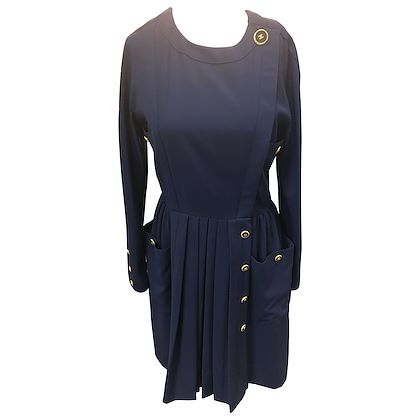 chanel-vintage-navy-dress-size-40