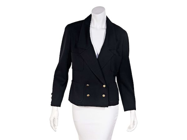 black-vintage-chanel-double-breasted-jacket