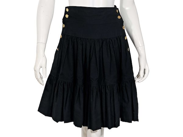 black-vintage-chanel-cotton-tiered-skirt