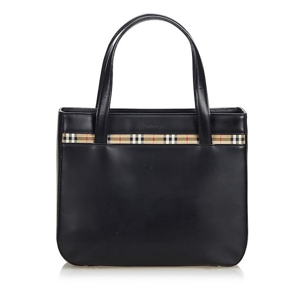 black-burberry-leather-tote-bag