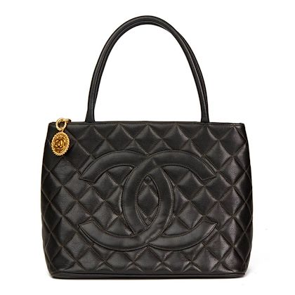 black-quilted-caviar-leather-vintage-medallion-tote-2