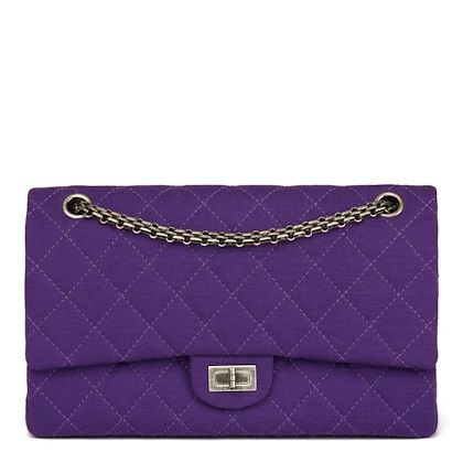 purple-quilted-jersey-fabric-255-reissue-226-double-flap-bag
