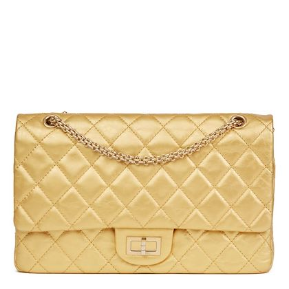 gold-quilted-aged-metallic-calfskin-leather-255-reissue-227-double-flap-bag
