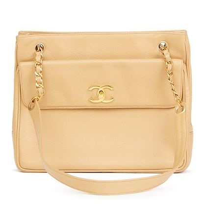 beige-caviar-leather-vintage-shoulder-bag