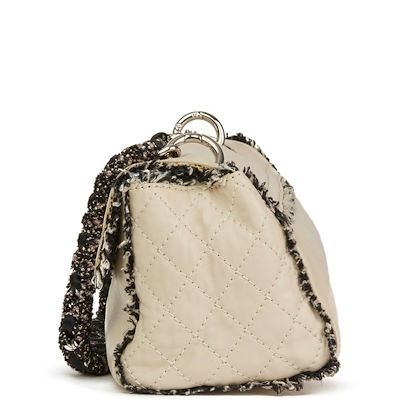 ivory-lambskin-leather-black-tweed-classic-shoulder-bag