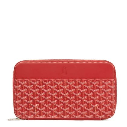 red-chevron-coated-canvas-opera-wallet