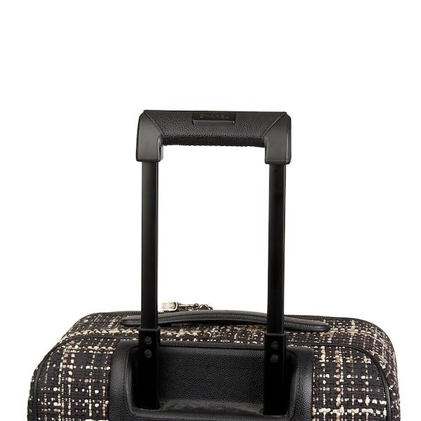 black-tweed-caviar-leather-jacket-trolley-rolling-suitcase