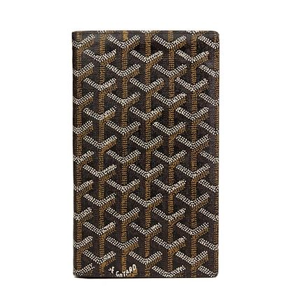 black-chevron-coated-canvas-bi-fold-wallet