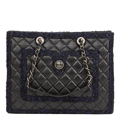 black-quilted-aged-quilted-calfskin-leather-navy-tweed-grand-shopping-tote-gst