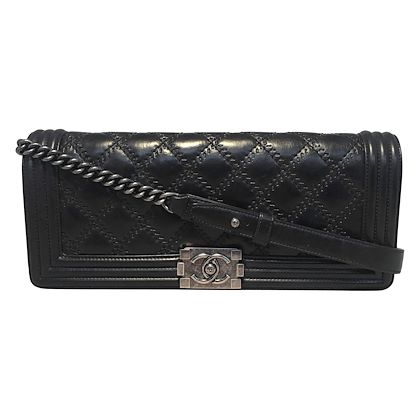 chanel-black-convertible-long-le-boy-classic-flap-clutch-shoulder-bag