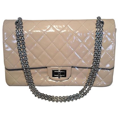 chanel-beige-distressed-patent-255-reissue-227-double-flap-classic