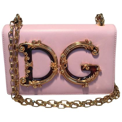 nwot-dolce-and-gabbana-dg-girls-pink-nappa-leather-shoulder-bag