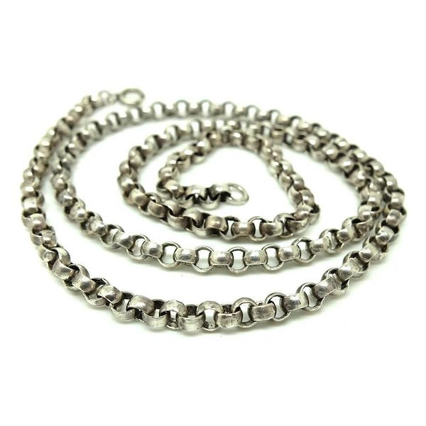 vintage1940s50s-made-in-england-silver-chain-necklace