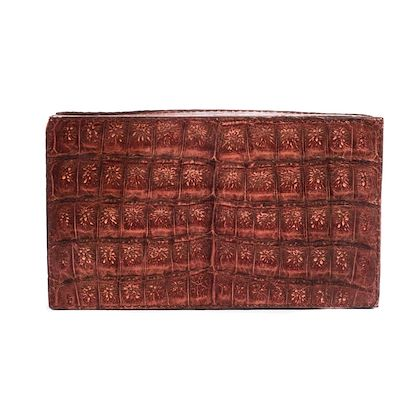 nancy-gonzalez-crocodile-brown-caiman-box-clutch-with-tag-new