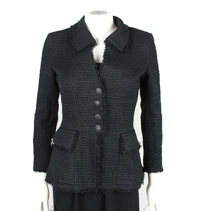 chanel-spring-2009-little-black-jacket-tweed-cc-36-us-4-pre-owned-used
