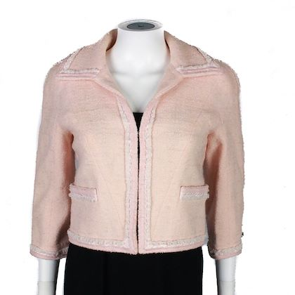 chanel-pink-cropped-2009-spring-tweed-blazer-cream-trim-36-us-4-pre-owned-used