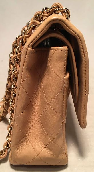 5a66b75c04b9 Chanel Vintage Tan 10 inch 2.55 Double Flap Classic Shoulder Bag