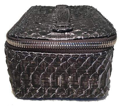 nwt-chanel-gray-python-snakeskin-jewelry-travel-pouch-case-with-accessories