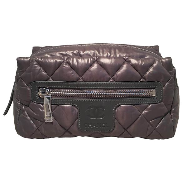 dfa40e20aff848 chanel-grey-quilted-nylon-travel-accessories-cosmetic-pouch