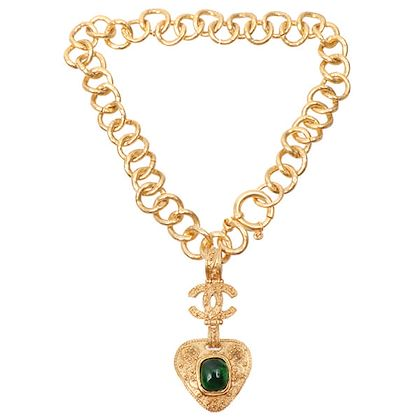 chanel-gripoix-triangle-motif-cc-mark-necklace-green